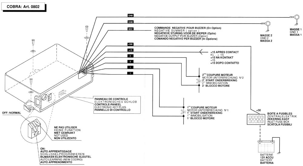 Omega Cobra Car Alarm Wiring Diagram